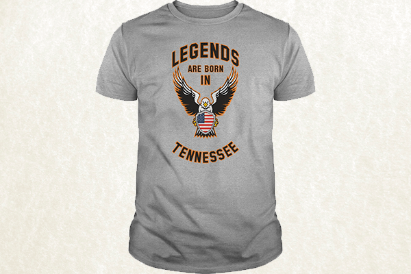 Legends are born in Tennessee T-shirt