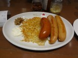 Dinner: Sausages and Rosti from Ambush, Takashimaya Basement