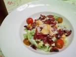 Caesar Salad with Crispy Beef Bacon