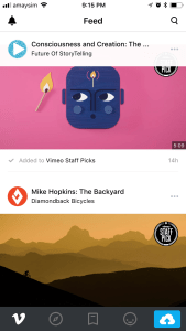 Vimeo app for iOS
