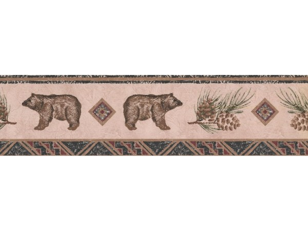Bear Animal Wallpaper Border Wl5564b