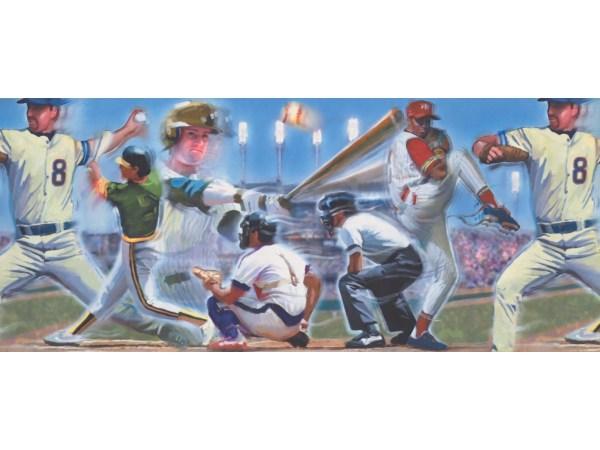 Sports Wallpaper Borders Baseball Border 110224
