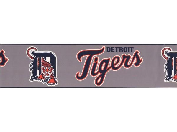 Baseball Detroit Tigers Sports Wallpaper Border 3370 Zb