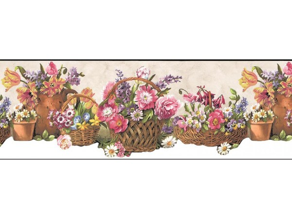 Floral Wallpaper Border B74240