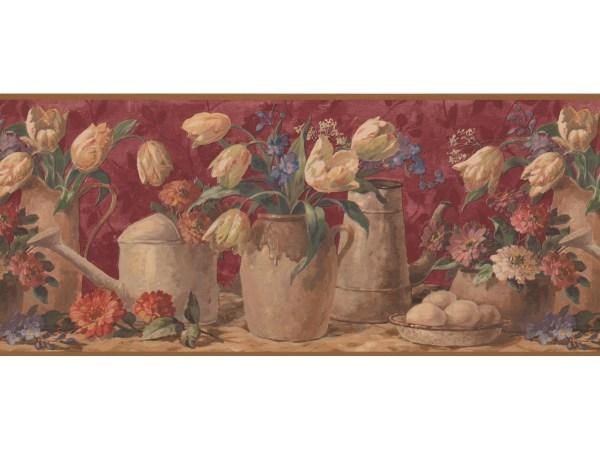Tulip Flower Wallpaper Border 5507150