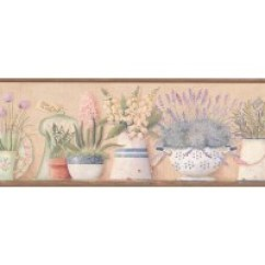 Wall Paper Borders For Kitchens Small Outdoor Kitchen Flowers Wallpaper Border 08013aai