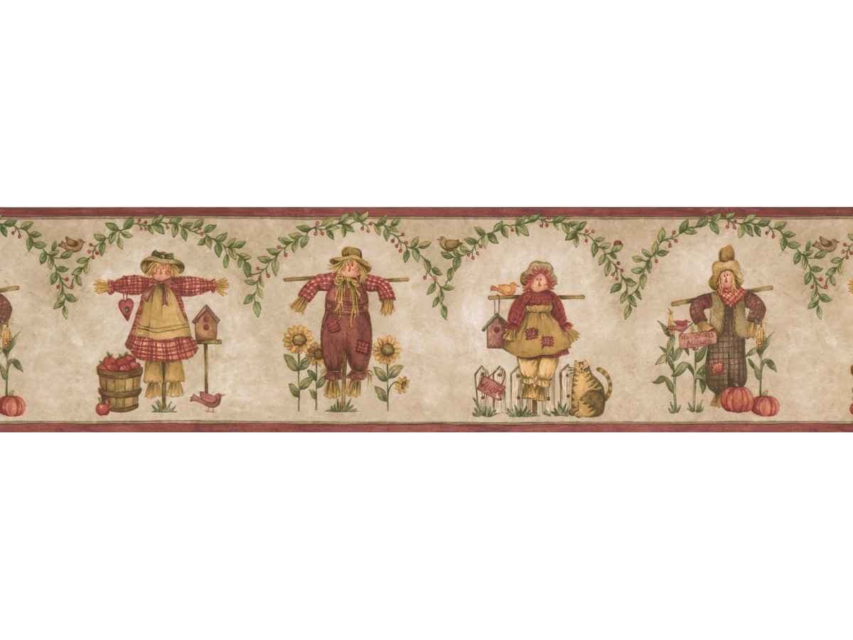 Watch Dolls Pumpkin Wallpaper Border