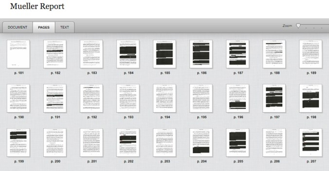 Mueller Report, Vol-I, Sec-V, redacted pages