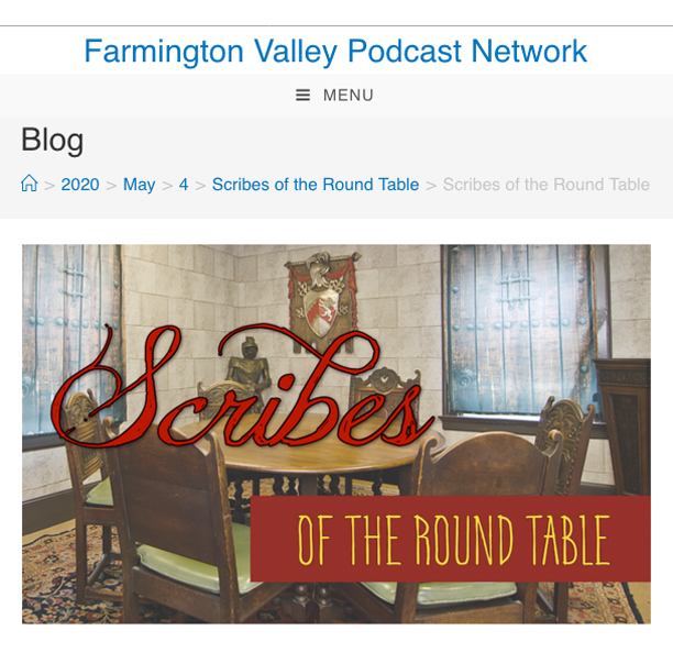 "Storyteller's Cottage ""Scribes"" Podcast, produced by Farmington Valley Podcast Network"