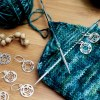 The Mindful Collection Sterling Silver Plated Chakra Stitch Markers, Dream Weaver Yarns LLC