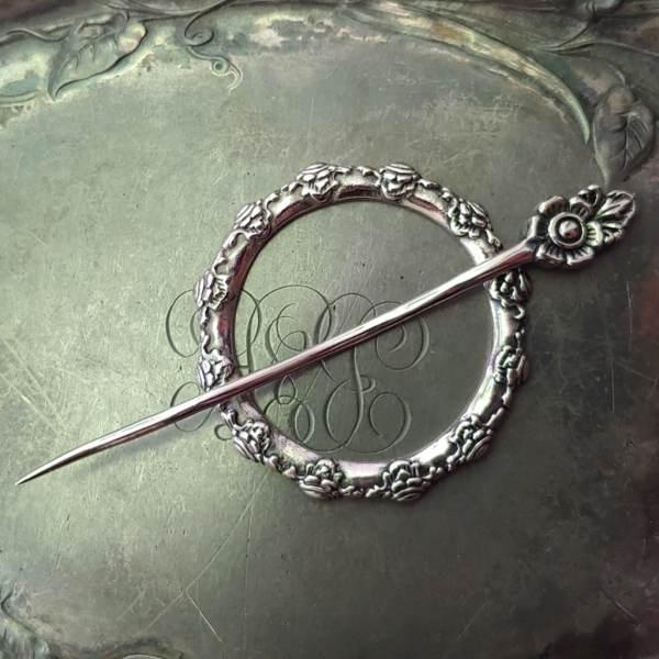 JUL Camellia Garden Shawl Pin, Dream Weaver Yarns LLC