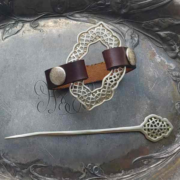 Moroccan Window Cuff and Shawl Pin, Dream Weaver Yarns LLC