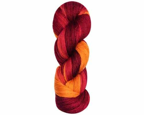 Lana Grossa Cool Wool Lace Hand Dyed Open Work Shawl Kit, Dream Weaver Yarns LLC