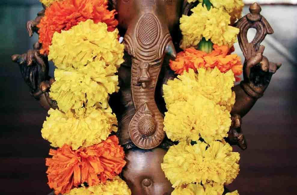 brown lord ganesha figurine