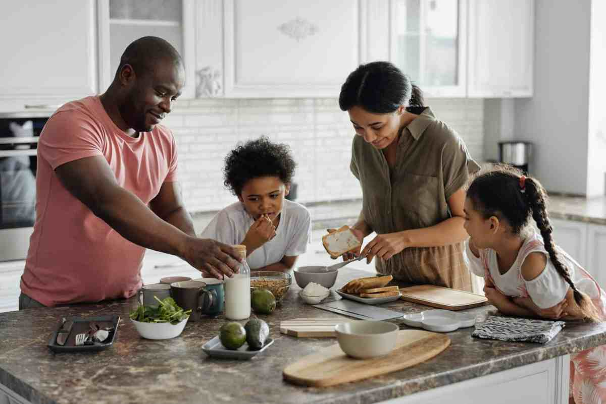 family making breakfast in the kitchen Money Can't Buy You Happiness