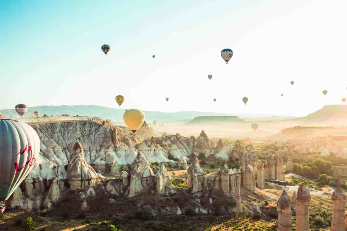 photo of hot air balloons on flight - microshifting can help you get manifesting