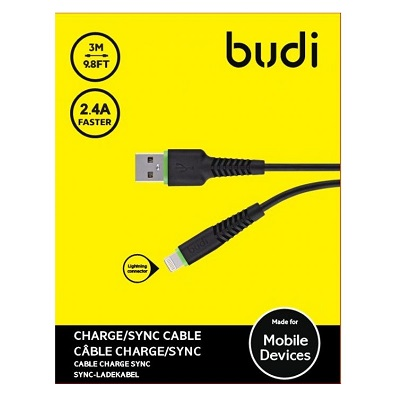 Budi Lightning to USB Charger Cable - M8J150L