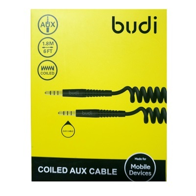 Budi Coiled AUX Cable - M8J150XS