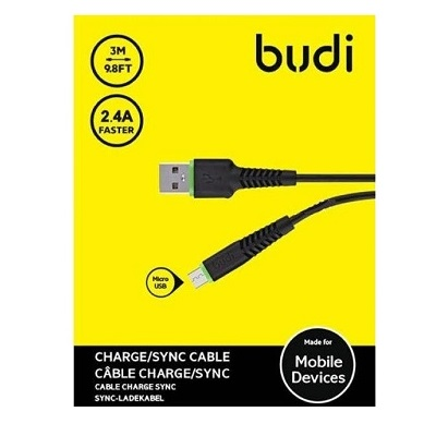 Budi Micro USB to USB Charger Cable - M8J150M09