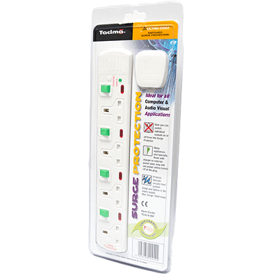 Tacima 4 Way Switched Surge Protector