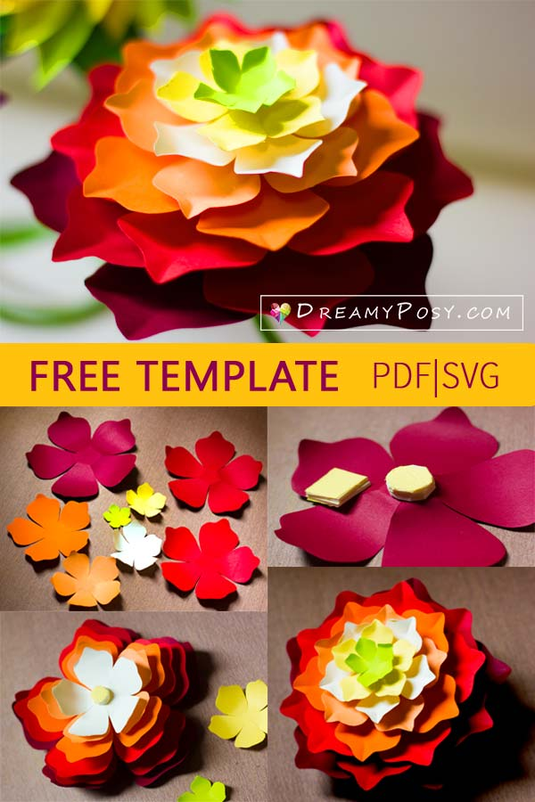 Free Paper Flower Svg : paper, flower, Paper, Flower, Templates,, Files,, Super, Tutorial