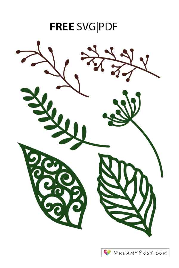 Svg Templates : templates, Leaves, Template,, Branch, Files