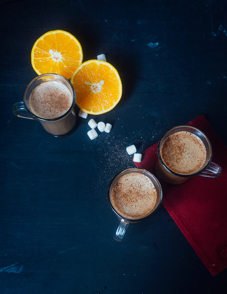 Spiced Orange Hot Chocolate