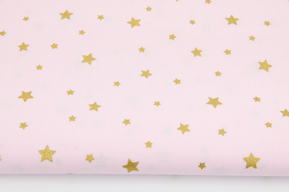 Cute Baby Barbie Hd Wallpaper Cotton 100 Gold Stars On A Light Pink Background