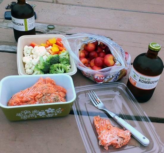 Healthy picnic at the park