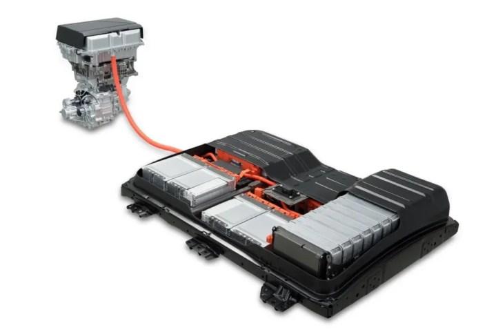 Motor und Batterie (40 kWh) im Nissan Leaf