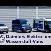 Daimler zeigt Wasserstoff-Wohnmobil und eVans