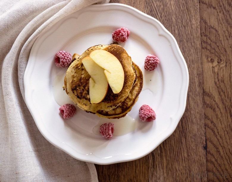 Rezept für leckere und fluffige Apfel-Pfannkuchen