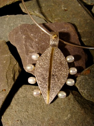 sterling silver, fine gold, pearls
