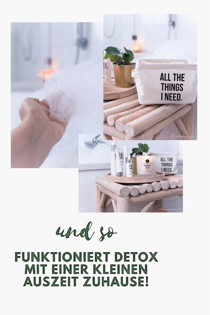 Eine Badewanne voller Schaumberge und ein DETOX-Wochenende für die Haut! Wer macht mit?