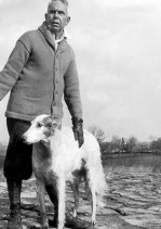 with Nick (Helen's wolfhound), Iroki, February 1929