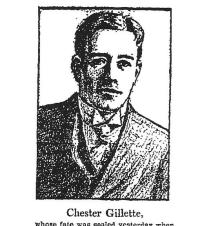 Chester Gillette shortly before his execution - Los Angeles Times 2-19-1908