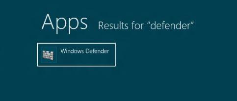 Windows Defender en Windows 8