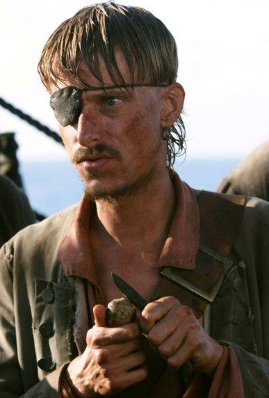 """Ragetti (Mackenzie Crook) dans les trois """"Pirates des caraïbes"""""""