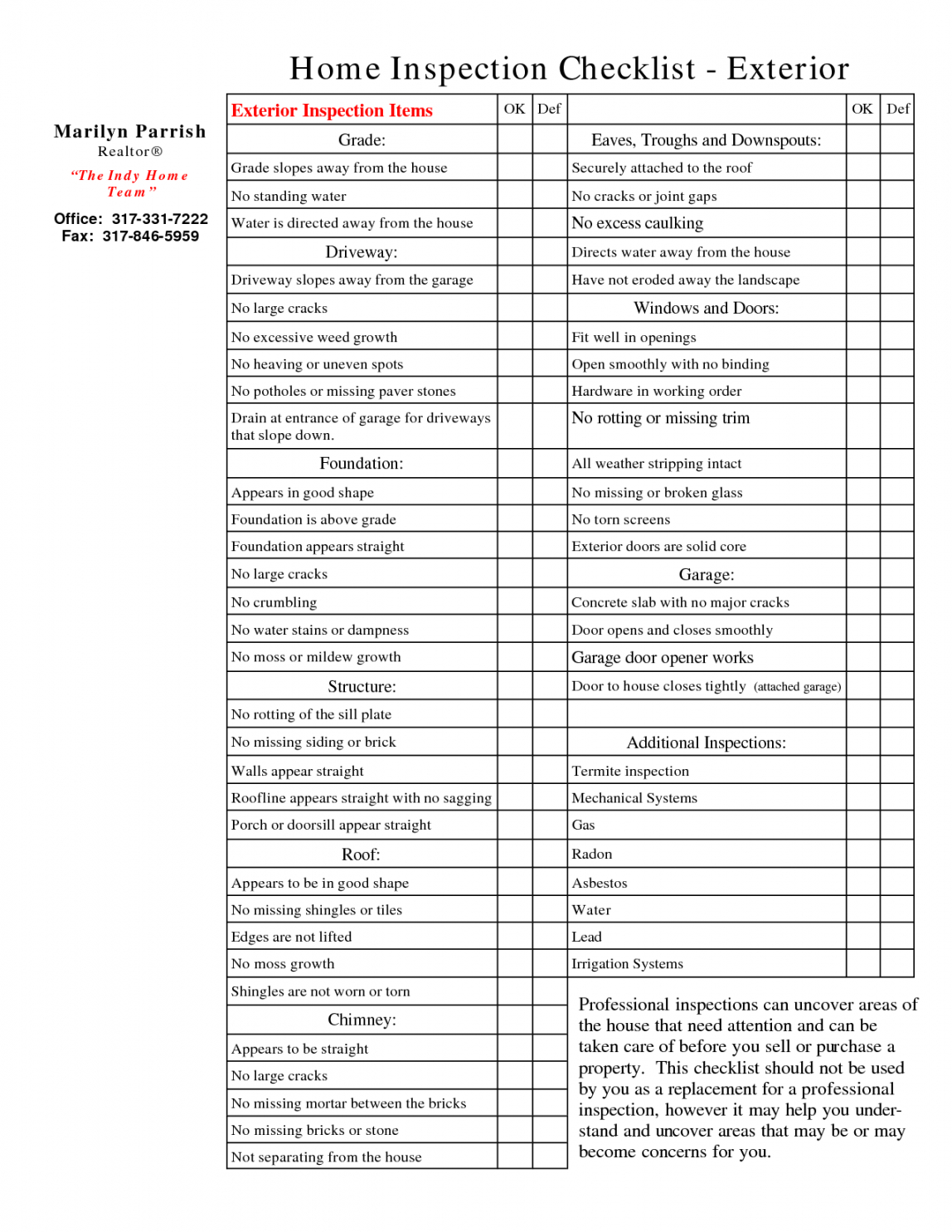 Warehouse Safety Checklist Template