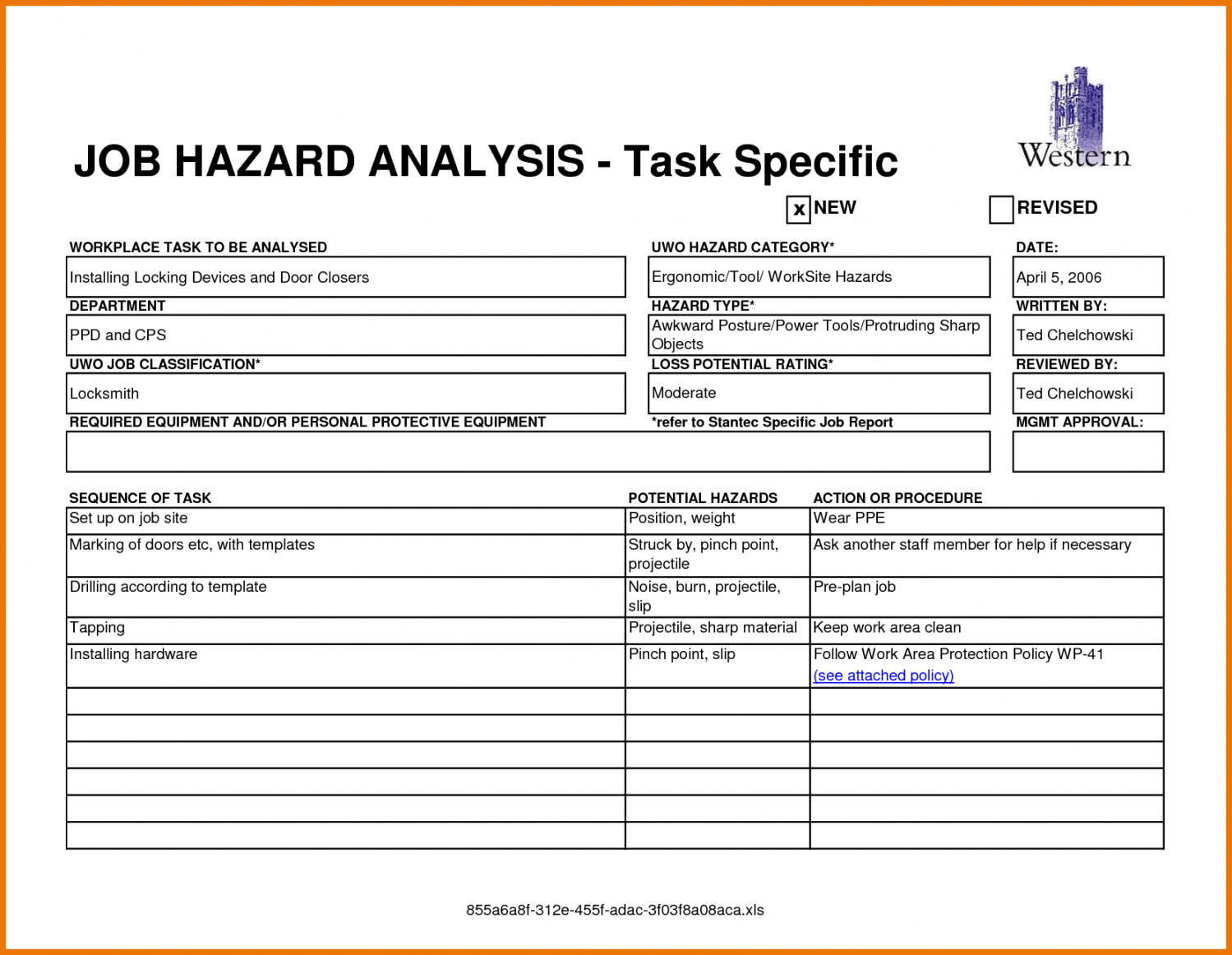 Safetyysis Report Template