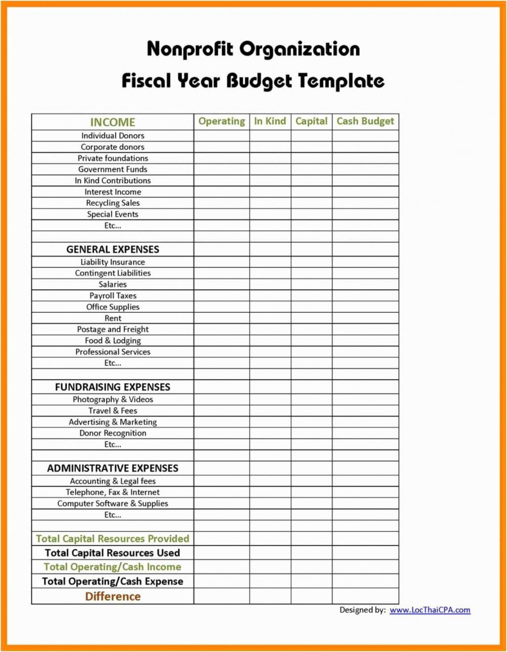Printable Business Sales And Expenses Spreadsheet