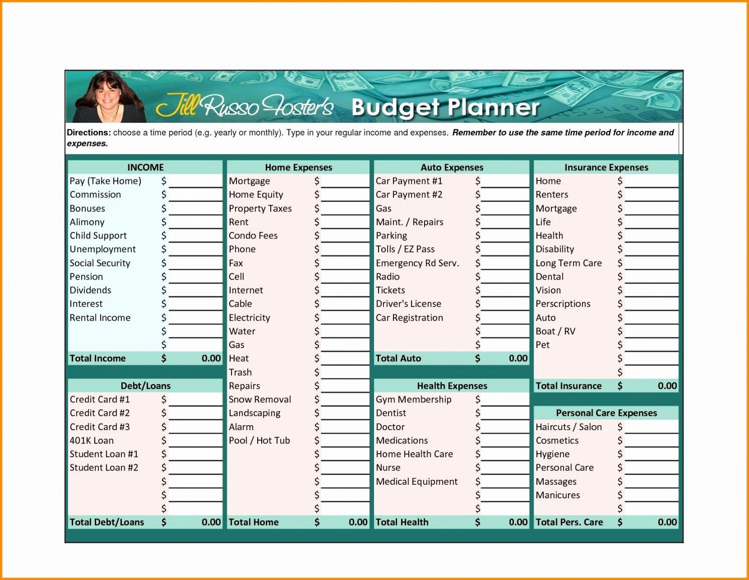 Free Family Budget Dave Ramsey Worksheet Zero Based