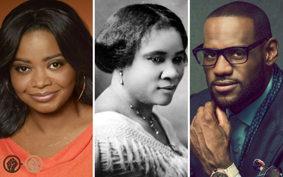 Octavia Spencer Lebron James Madame C. J. Walker
