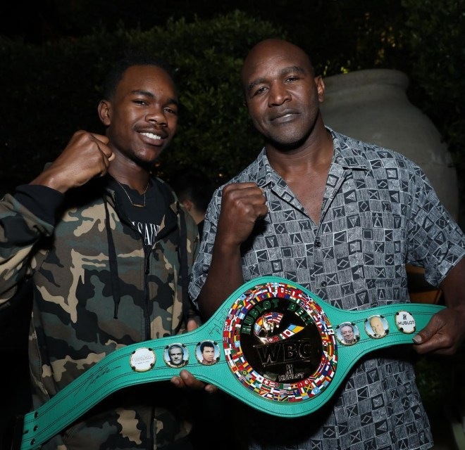 Evan Holyfield and father Evander Holyfield