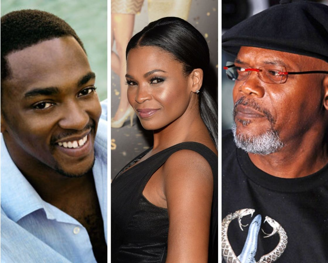 samuel l. jackson, nia long, anthony mackie, the banker