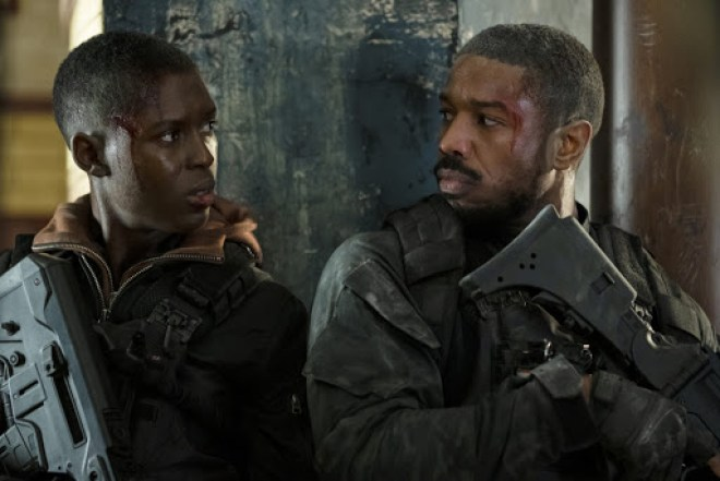 michael b. jordan and jodie turner-smith in without remorse