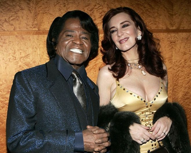 james brown and wifey