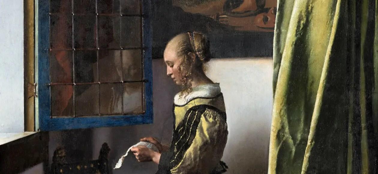"""Vermeer """"Brieflesendes Mädchen am offenen Fenster"""""""