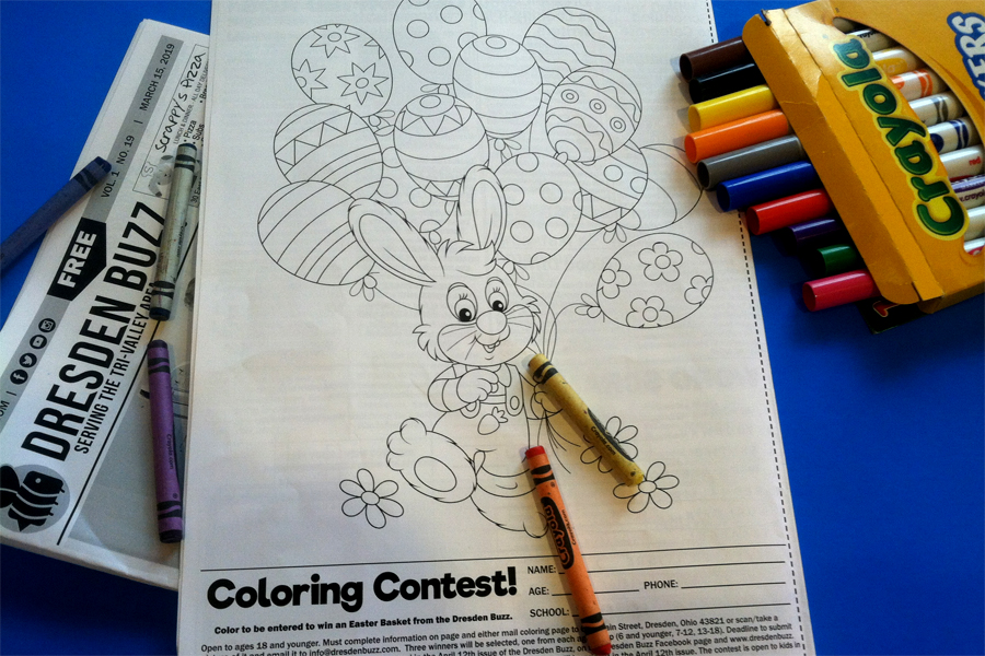 Hey, Kids Don't Forget to Enter the Coloring Contest! – Dresden Buzz