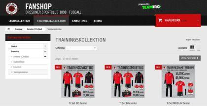 Online-Fanshop: im November mit 10 %-Rabatt auf Teamwear-Kleidung